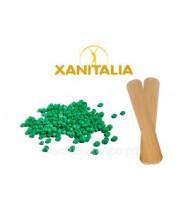 Воск в гранулах, Алое вера, зеленый, 1000гр, Xanitalia
