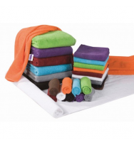 Махровое полотенце оранжевого цвета 50 x 90 см