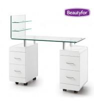 Маникюрный стол с подставкой для лаков Beautyfor