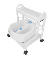 Педикюрная подкатная ванночка SPA-103, белая