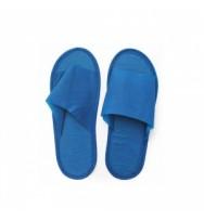 Тапки из нетканного материала, 10 пар/уп. голубые