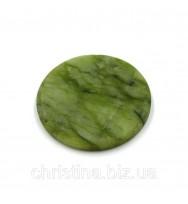 Камень нефритовый для клея (диаметр 50 мм)