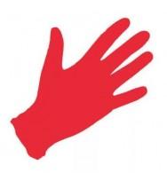 Перчатки нитриловые, неопудренные 100 шт/упак (MO) красные S