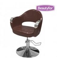 """Кресло парикмахерское """"332"""", гидравлическое, коричневое"""